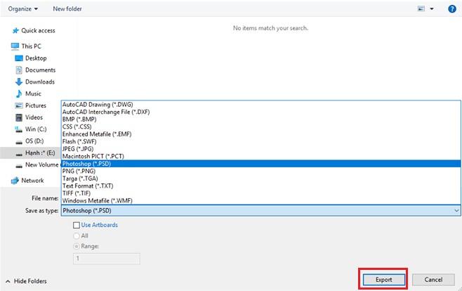 Cách chuyển file AI sang PSD để sử dụng