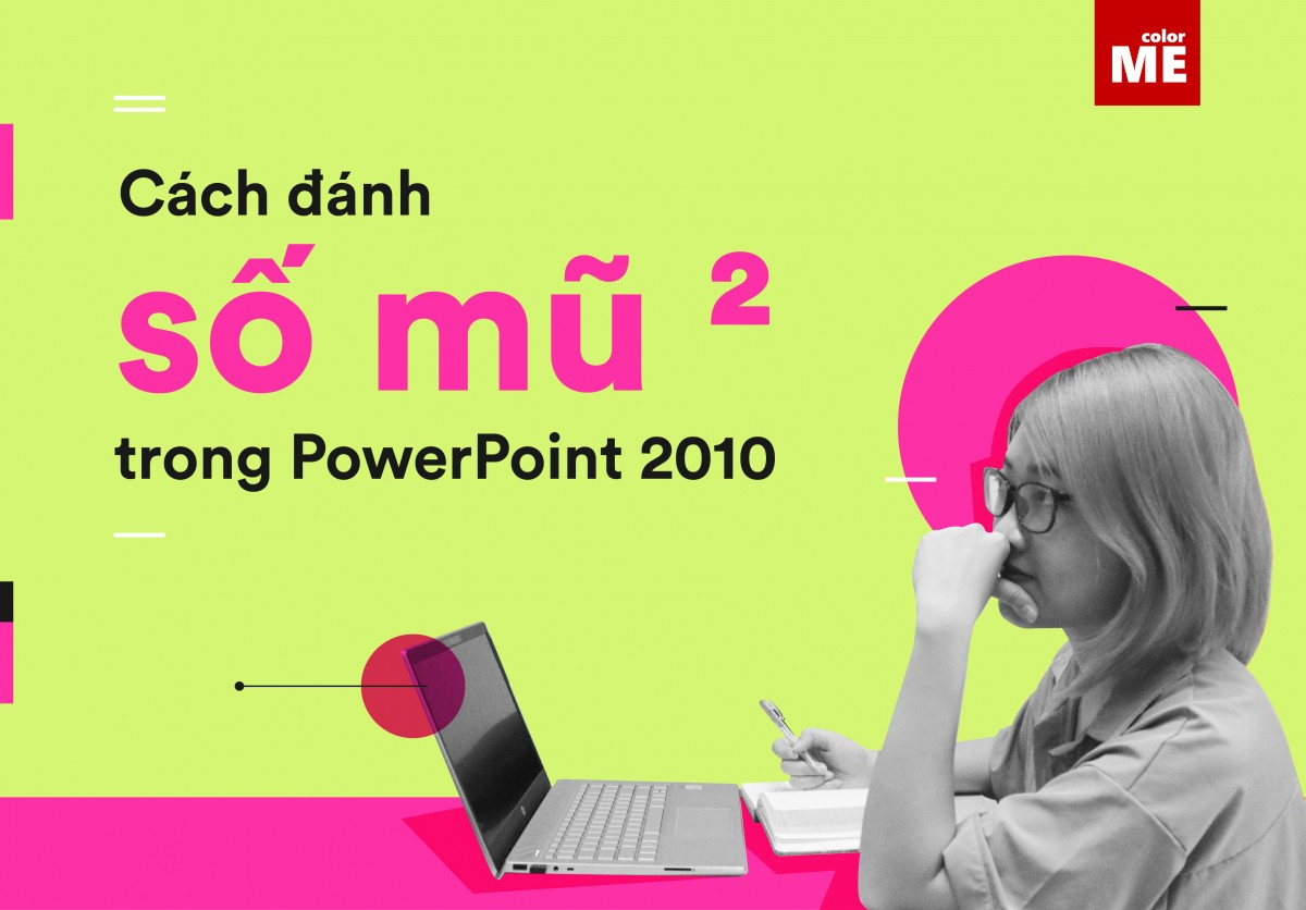 Cách đánh số mũ trong Powerpoint