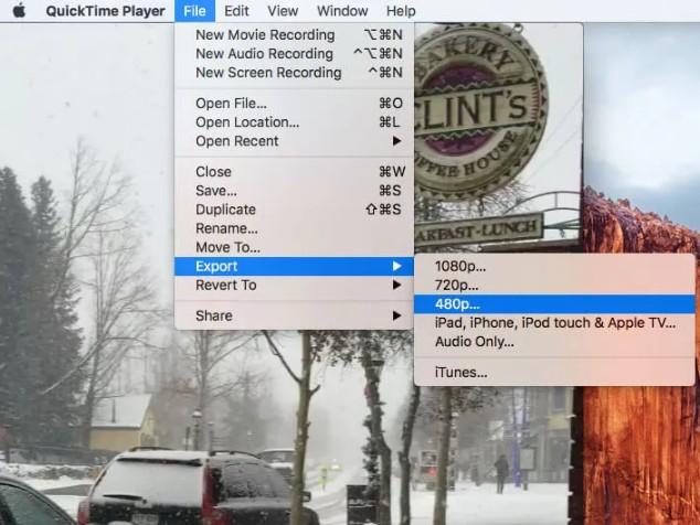 Cách giảm dung lượng video mp4 vẫn giữ nguyên chất lượng với QuickTime Player