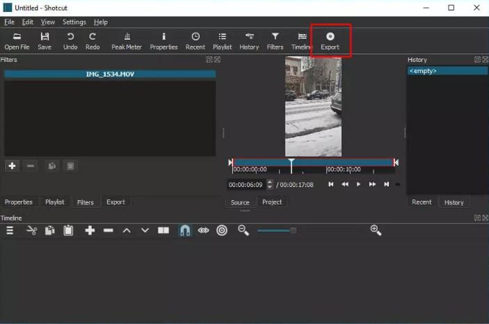 Cách giảm dung lượng video mp4 vẫn giữ nguyên chất lượng với Shotcut