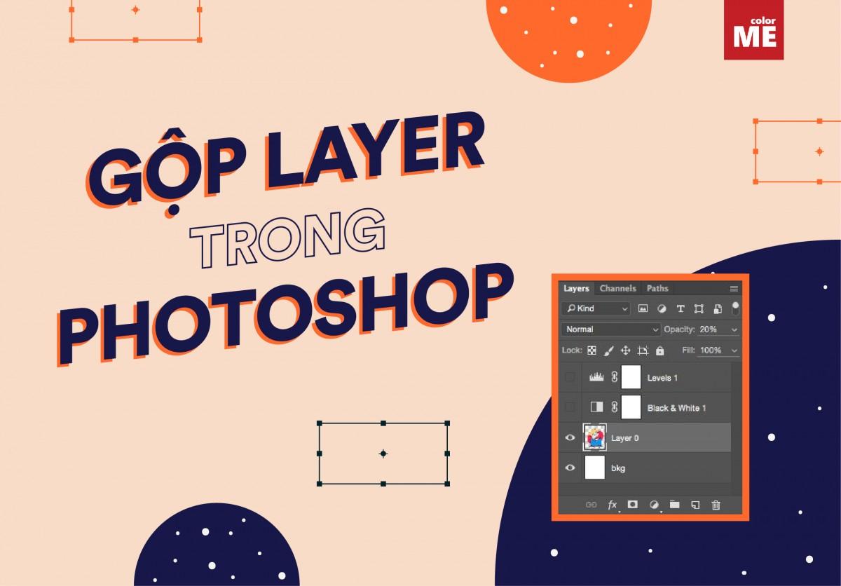Cách gộp layer trong Photoshop Pts đơn giản