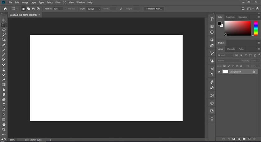 reset thanh công cụ photoshop