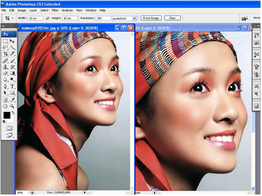 Cách phóng to ảnh không bị vỡ hạt bằng Photoshop