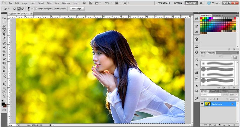 Cách sử dụng Quick Selection Tool trong photoshop