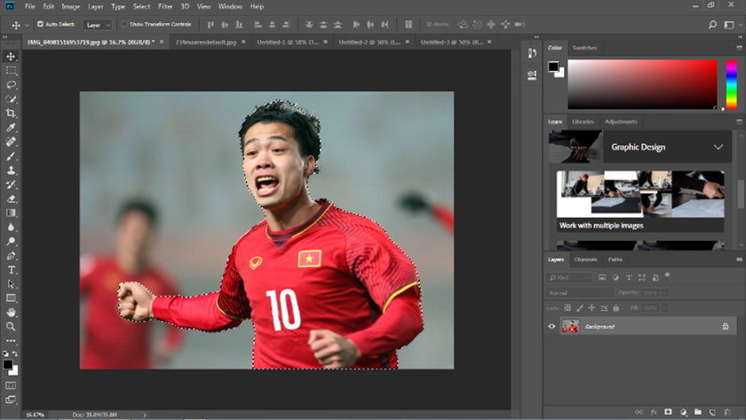 cách tách layer trong photoshop