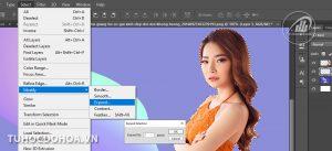 Cách tạo đường viền một đối tượng trong photoshop