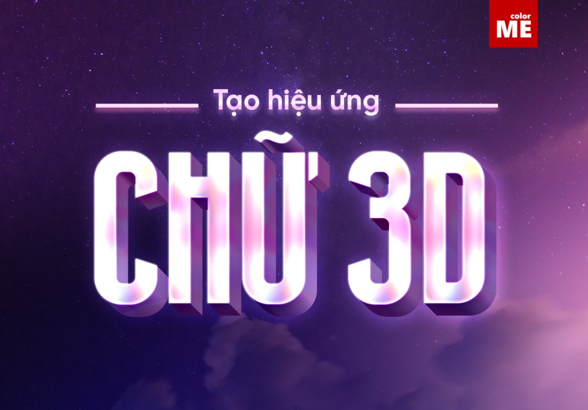 Cách tạo hiệu ứng chữ 3D Adobe Illustrator