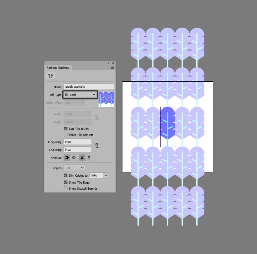 hướng dẫn tạo pattern bằng illustrator 5