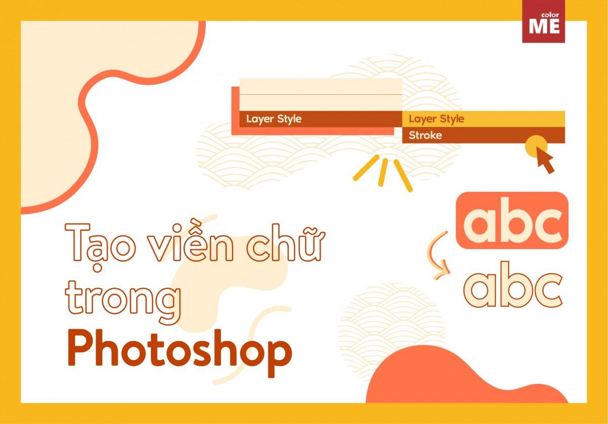 Cách tạo viền cho chữ trong Photoshop
