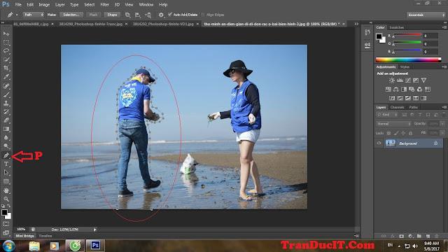 Cách xóa người trong photoshop