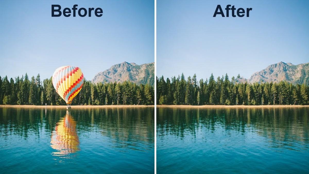 Cách xóa vật thể trong photoshop