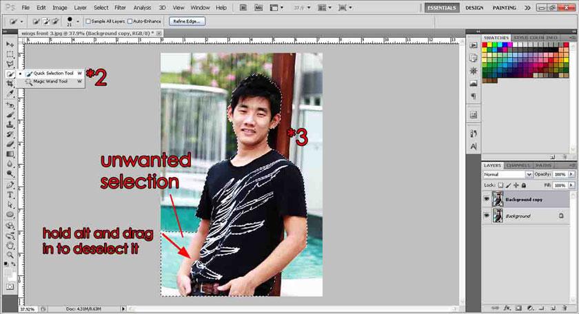Cắt ảnh theo ý muốn trong photoshop