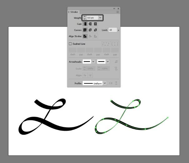 Hướng dẫn cách dùng brush Calligraphy trong Adobe Illustrator