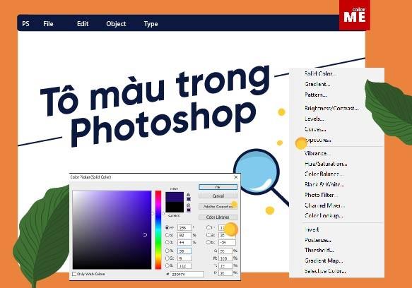 tô màu trong photoshop