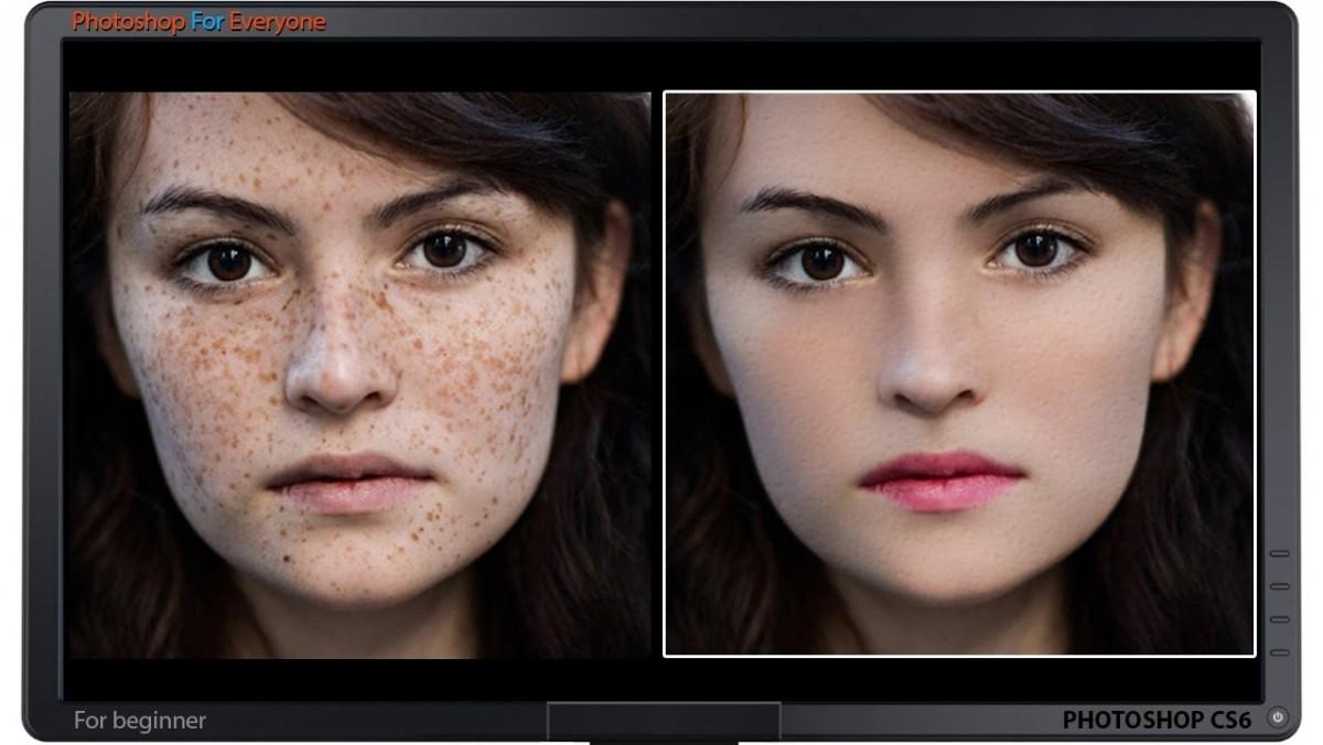 làm mịn da trong Photoshop