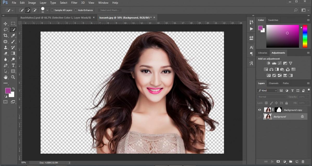 Hướng dẫn tách tóc trong Photoshop CC đơn giản nhanh gọn