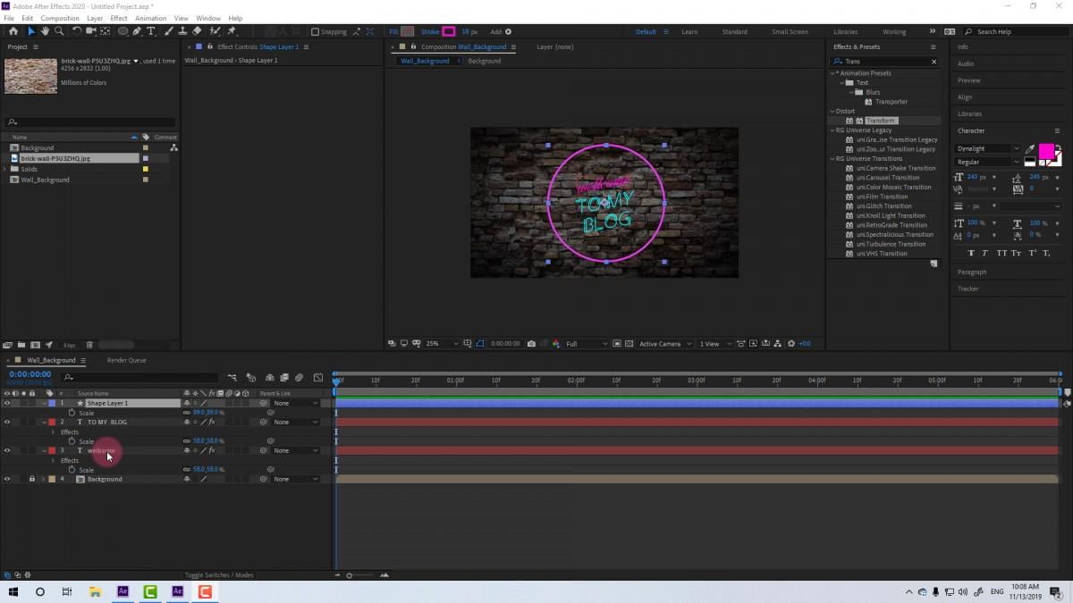 Hướng dẫn tạo Logo intro hiệu ứng Neon với Adobe After Effects