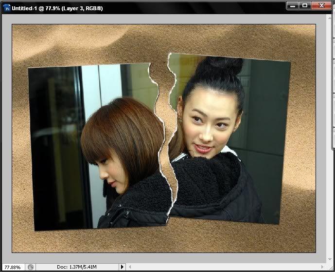 Hướng dẫn xé đôi bức ảnh trong photoshop đầy nghệ thuật