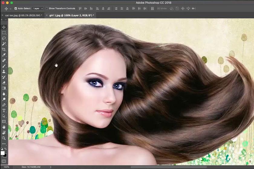 Tách tóc bằng Select and Mask trong Photoshop