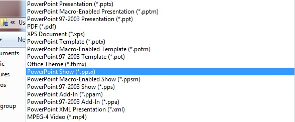 Tạo video bằng PowerPoint Show