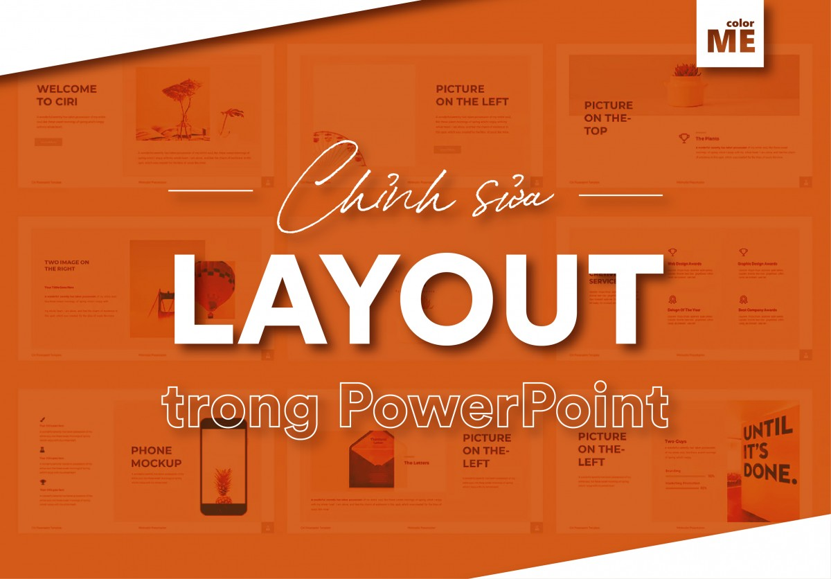 Thao tác chỉnh sửa Layout trong PowerPoint